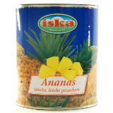 Iska ananas kocka kompot 820g limenka Slike