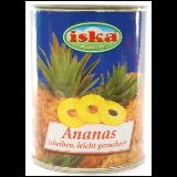 Iska ananas kolutići kompot 560g limenka Slike