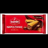 Bambi napolitanke čokolada 185g kutija
