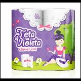 Violeta claver cut troslojni kuhinjski ubrus 2 komada Slike