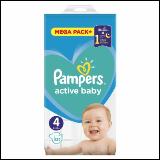 Pampers active baby pelene 4 132 komada  Cene