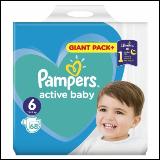 Pampers active baby pelene 6 68 komada  Cene