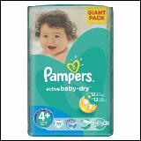 Pampers active baby-dry pelene 4+ maxi 70 komada  Cene