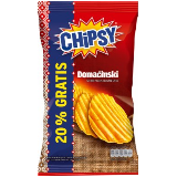 Marbo chipsy domaćinski čips sa ukusom kajmaka 192g kesa Slike