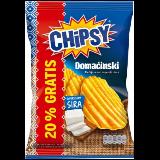 Marbo chipsy domaćinski čips sa ukusom sira 72g kesa Slike