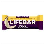 Lifebar Plus organski sirovi desert - Acai Banana 47g Slike