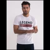 Legend muška bela casual majica 6461-9368-01