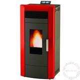Alfa Plam peć na pelet za etažno grejanje COMMO 21 Crvena Slike