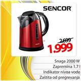 Sencor SWK1741RD električni bokal kuvalo Cene