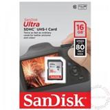 Sandisk SDHC 16GB Ultra 80mb/s memorijska kartica Cene