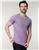 Tudors slim fit sa teksturom lila majica v izrez (TS190005-204)  cene