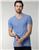 Tudors slim fit sa teksturom plava majica v izrez (TS190005-200)  cene